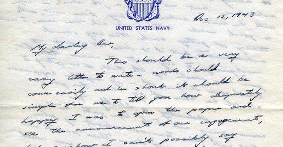 Milostný dopis své budoucí ženě Barbaře poslal během druhé světové války George Bush starší