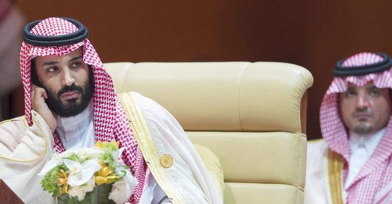 Korunní princ Mohamed bin Salmán na zahájení arabského summitu.