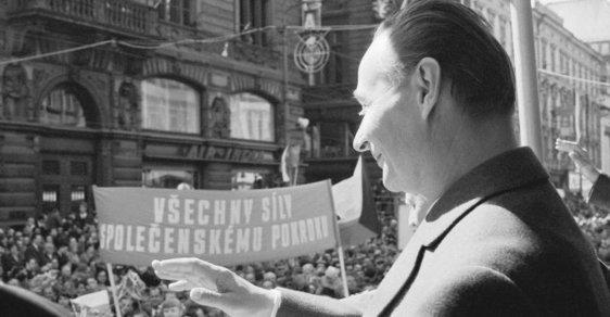Alexander Dubček během pražského jara roku 1968.