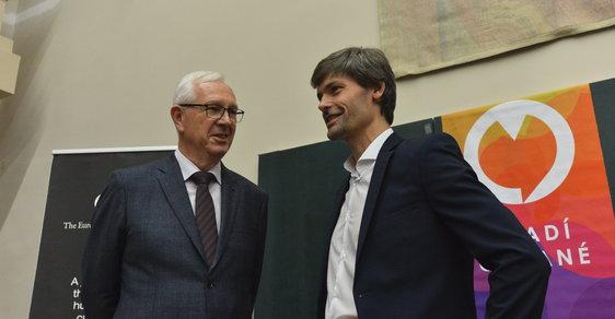 Kandidáti do Senátu Jiří Drahoš a Marek Hilšer