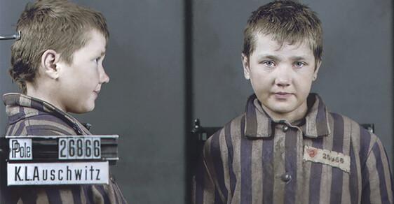 Děti zavražděné nacisty: Jedinečné kolorované snímky, které mají připomenout oběti holocaustu