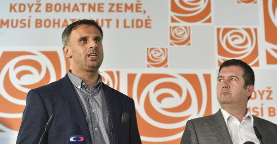 Jiří Zimola a Jan Hamáček