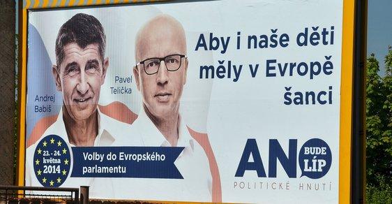 V roce 2014 kandidoval Pavel Telička do Evropského parlamentu za hnutí ANO.