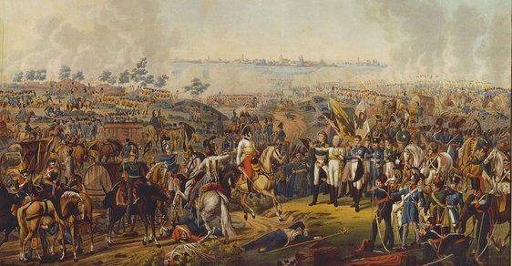 Bitva u Lipska: Nejkrvavější střet napoleonských válek. Napoleon tam dostal na frak a musel na Elbu