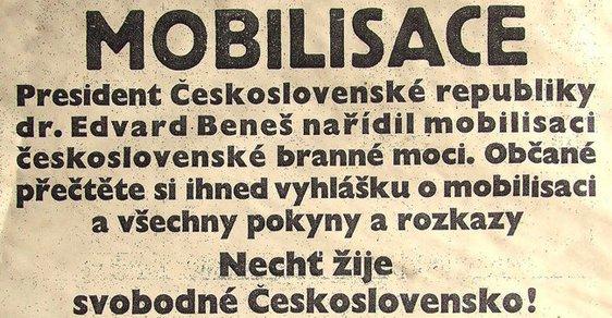 Mobilizační vyhláška v Českém Slově