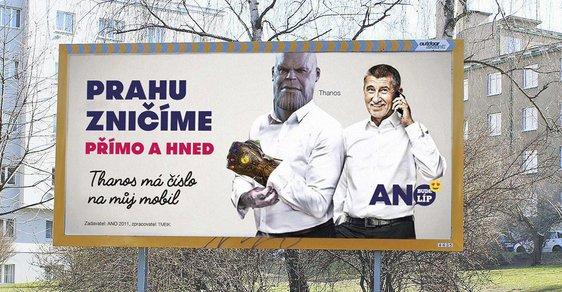 Thanos má taky číslo na Babiše