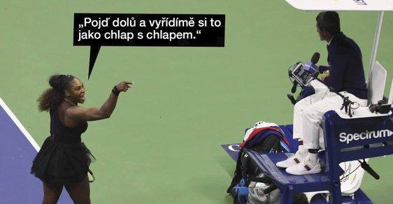 Taky v Česku se výstup Sereny Williamsové dostal do řady vtipů