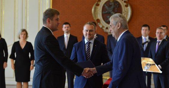Prezident Miloš Zeman jmenoval Tomáše Petříčka ministrem zahraničí