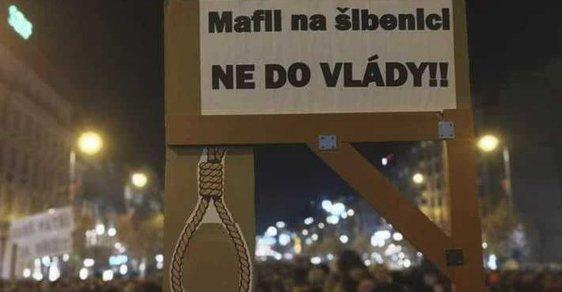 Demonstrace proti Babišovi: Šibenice nejsou legrace!