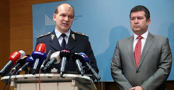 Briefing Jana Hamáčka a policejního prezidenta Martina Vondráška na ministerstvu vnitra
