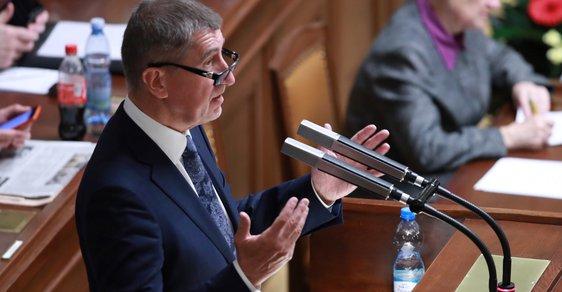 """""""Nikdy neodstoupím!"""" Zopakoval v Poslanecké sněmovně premiér Andrej Babiš na schůzi, při které chtějí poslanci hlasovat o nedůvěře vládě (23. 11. 2018)"""