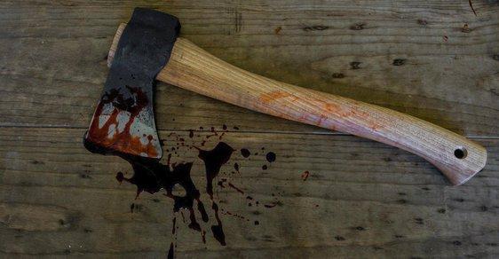 Krev na zádech pak zřejmě stékala z vražedného nástroje