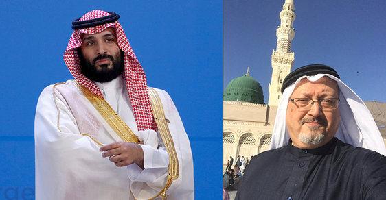 Turecko tvrdí, že brutální vraždu Chášukdžího (vpravo) nařídil saúdský korunní princ Muhammad bin Salmán.