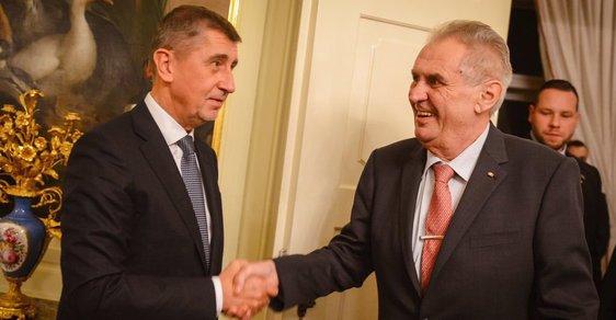 Andrej Babiš a Miloš Zeman v době, kdy spolu ještě kamarádili.