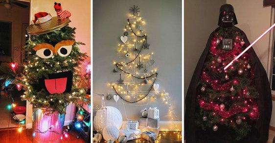 Jak také může vypadat stromek aneb 30 skvělých nápadů na vánoční výzdobu. Podívejte se