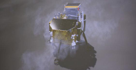 Poprvé v historii přistála sonda na odvrácené straně Měsíce. Číňané tam zkusí pěstovat zeleninu
