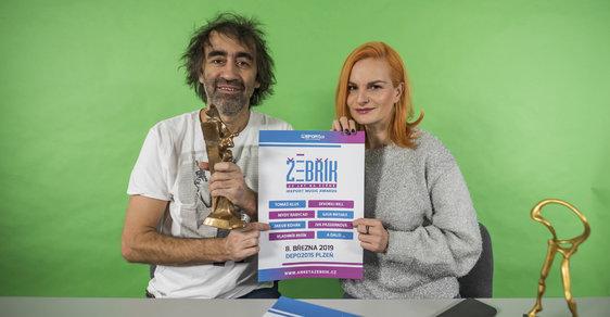 Vítěze 27. ročníku hudebních cen Žebřík vyhlásí 8. března moderátorská dvojce Jakub Kohák a Iva Pazderková