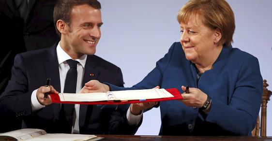 Prázdný Macron a oslabená Merkelová vyprodukovali 16 stran nové bezcenné smlouvy