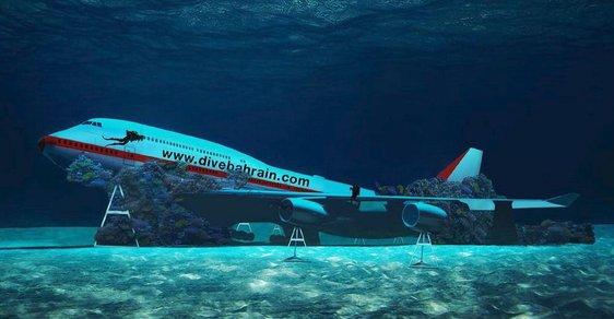 Velké letadlo Boeing 747 bude hitem podmořského parku v Bahrajnu