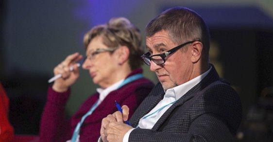 Andrej Babiš a Marta Nováková