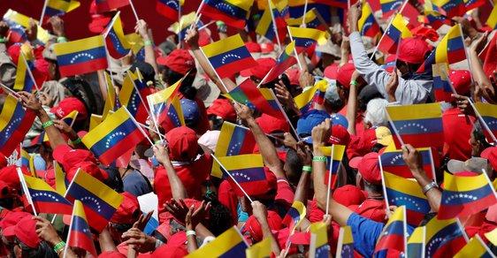 Protesty proti Madurovi ve Venezuele (3.2.2019)