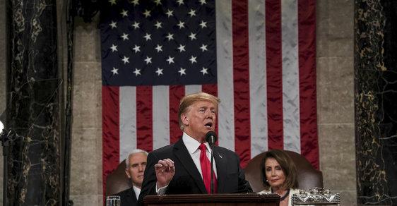 Donald Trump v Kongresu: Poselství o stavu unie