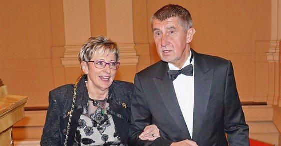 Marta Nováková a Andrej Babiš
