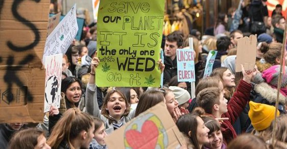 Demonstrace Fridays for Future v německém Hamburku