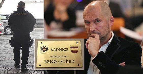 Radního Jiřího Švachulu (53, ANO) měli zatknout detektivové z Národní centrály proti organizovanému zločinu po zásahu na radnici Brno-střed.