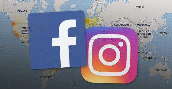 Uživatelé se nemohou přihlásit na Facebook ani Instagram