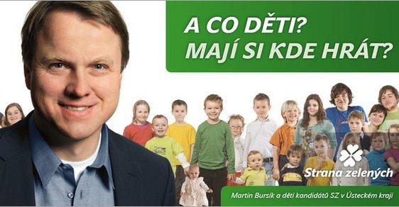 Billboard Strany zelených se sloganem z písničky skupiny Katapult
