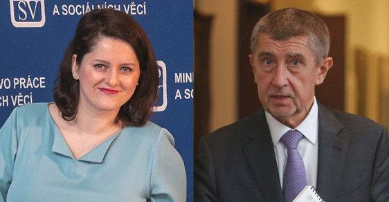 Ministryně Maláčová se snaží, premiér Babiš jí bohulibé návrhy stejně vyfoukne.