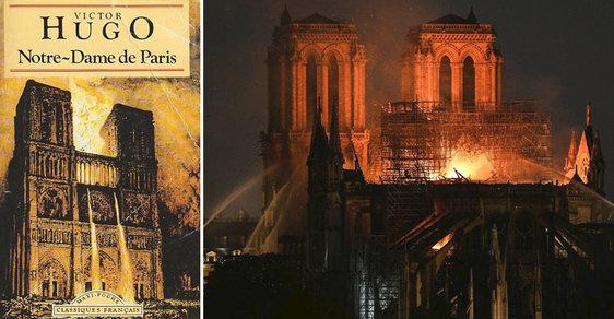 Tlamy monster bez ustání plivou ohnivý déšť. Victor Hugo předpovídal obrovský požár Notre-Dame