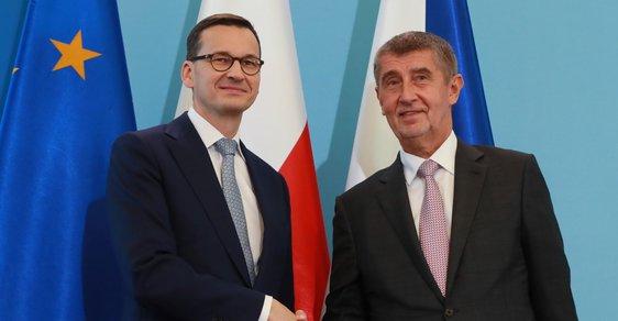 Premiéři Polska a ČR: Mateusz Morawiecki a Andrej Babiš