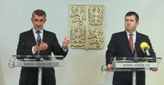 Andrej Babiš (ANO) a Jan Hamáček (ČSSD).