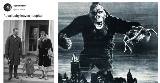 Jak souvisí King Kong ze 30. let a rasistický tweet o přírůstku do britské královské rodiny?