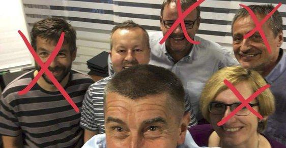Populární upravená fotka vtipně zachycuje zužování Babišova týmu odborníků.