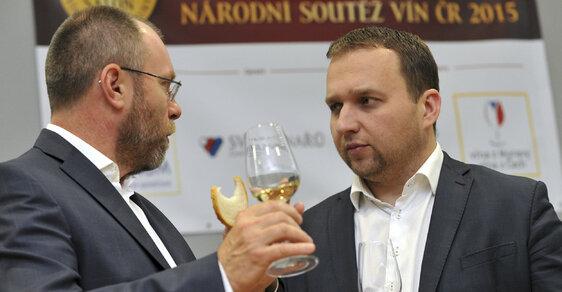 Prezident Svazu vinařů Tibor Nyitray a exministr zemědělství Marian Jurečka