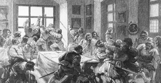 Mýty pražské defenestrace: Jak se válka protestantů a katolíků o moc stala válkou mezi Čechy a Němci