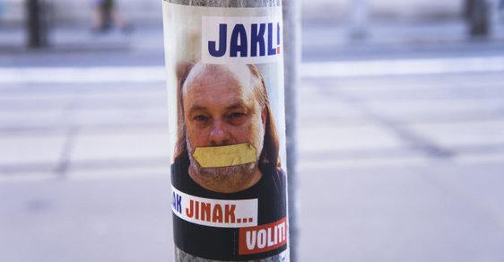 Volební plakát Ladislava Jakla.