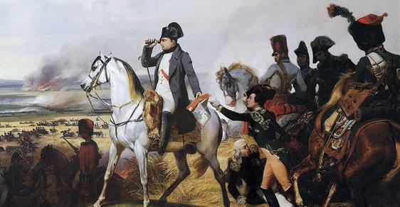 Napoleon se svým vojskem míří do bitvy u Wagramu v roce 1809