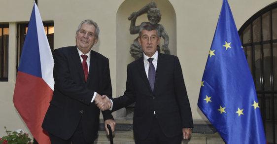 Andrej Babiš a Miloš Zeman se stále podporují