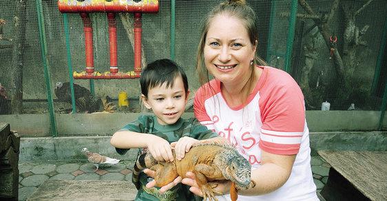 Gabriela Sontodinomo a její syn