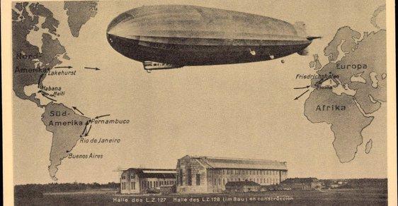 Před 90 lety uskutečnil Graf Zeppelin cestu kolem světa: Pasažéři pojídali kaviár, kajuty měly vlastní koupelny