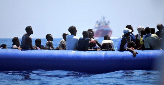 Lodě s migranty.