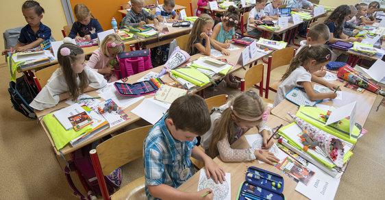 Zahájení školního roku v Základní škole SNP v Hradci Králové.