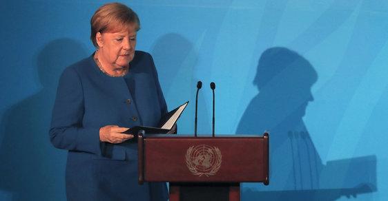 Německá kancléřka Angela Merkelová na klimatickém summitu OSN v New Yorku.