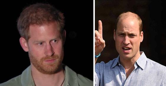 Trable v královské rodině: Princ Harry přiznává spor s bratrem Williamem
