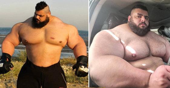 Neuvěřitelný íránský Hulk: Hromotluk na steroidech chtěl bojovat s ISIS a dnes touží zápasit v kleci bez rukavic
