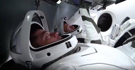 Historický vesmírný milník: Dnes odstartuje loď Crew Dragon Elona Muska s lidskou posádkou